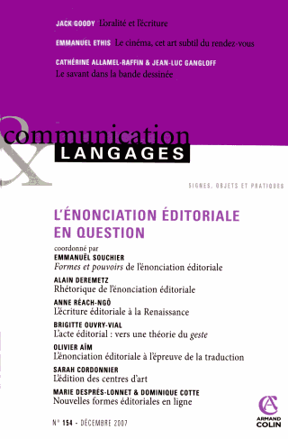COMMUNICATIONS ET LANGAGES
