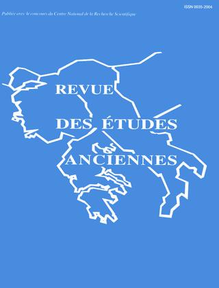 REVUE DES ETUDES ANCIENNES