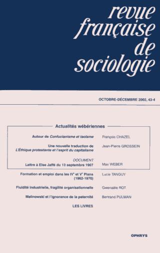 Revue fran aise de sociologie pers e for Revue de www houseplans com