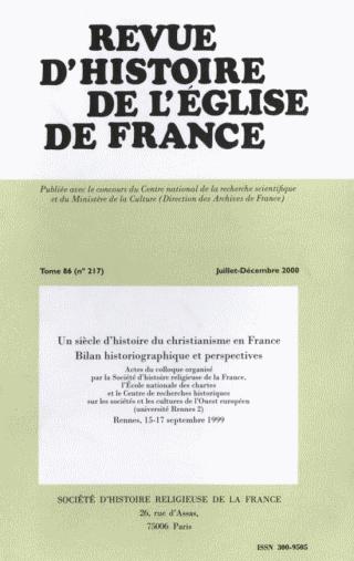 REVUE D'HISTOIRE DE L'EGLISE DE FRANCE