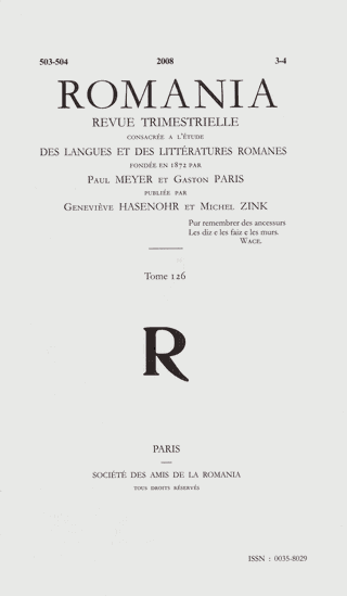 An Example Of Comic Clich In The Old French Fabliaux Perse