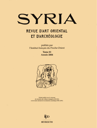 https://www.persee.fr/renderCollectionCover/syria.png