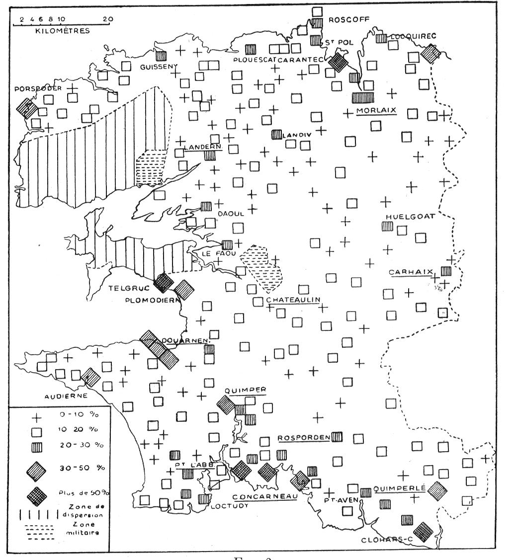 les d u00e9placements de la population vers la bretagne en 1939