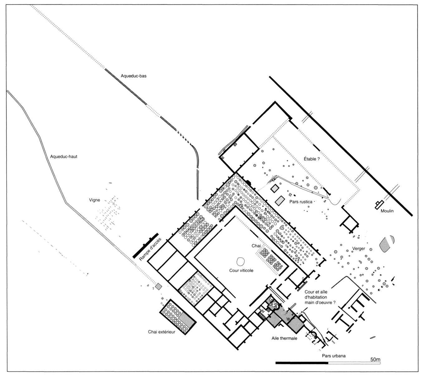 """La Villa Gallo-romaine De """"Vareilles"""" à Paulhan (Hérault"""