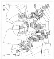 Fig. 12 Mouthoumet, d'après le cadastre du XIXe s. (D. Baudreu del.)