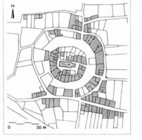 Fig. 13 Loupia, d'après le cadastre du XIXe s. (D. Baudreu del.)