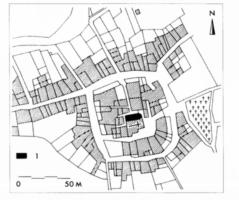 Fig. 15 La Digne-d'Amont, d'après le cadastre du XIXe s
