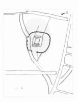 Fig 19b : croquis : emplacements des habitats révélés par les prospections au sol