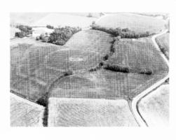 Fig. 26 Site de la Bourdette (commune de Saint-Martin- Lalande). 26a cliché aérien oblique (M. Passelac, J.-P. Cazes, 860330) ;