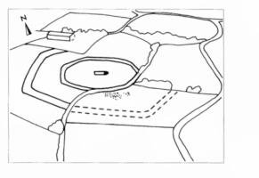 Fig. 26 Site de la Bourdette (commune de Saint-Martin- Lalande). 26b Croquis d'interprétation