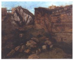Courbet, peintre du calcaire