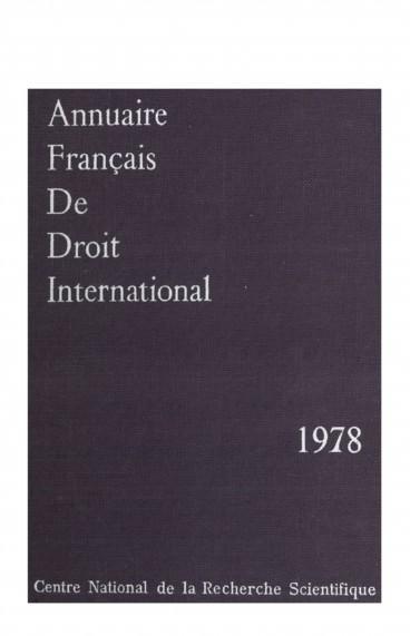 Les Conventions Internationales Conclues Par La France Et Publiees Au Journal Officiel De La Republique Francaise En 1978 Persee