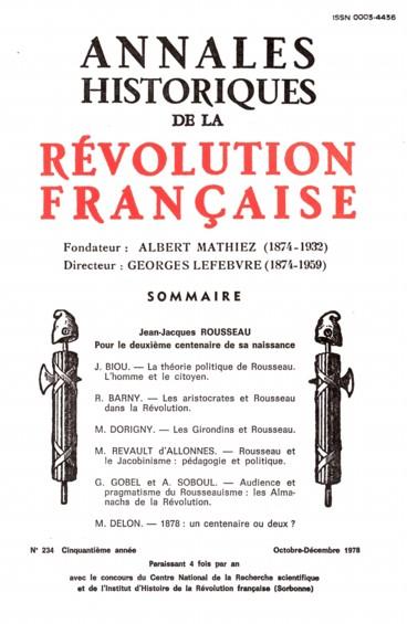 La Theorie Politique De Rousseau L Homme Et Le Citoyen Persee