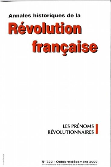 Calendrier Des Saints Et Des Prenoms.Des Prenoms Revolutionnaires En France Persee