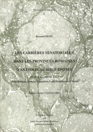 Les Carrières Sénatoriales Dans Les Provinces Romaines Danatolie Au