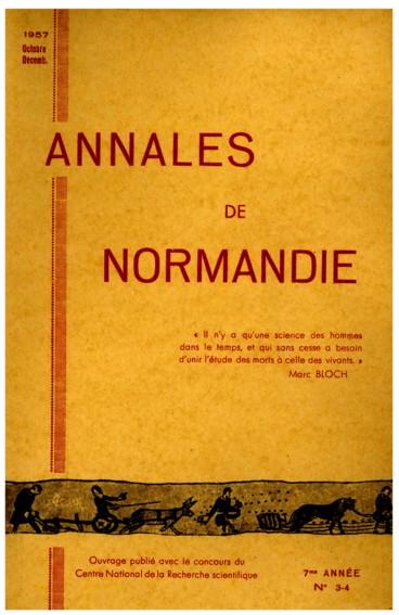 Histoire monastique    Annales de Normandie