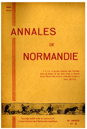 Histoire religieuse   Annales de Normandie