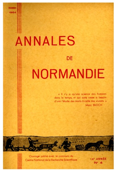 Table des matières    Annales de Normandie
