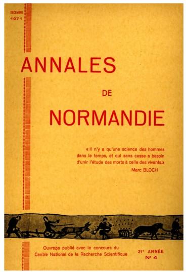Histoire locale    Annales de Normandie