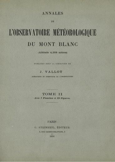 Expériences d actinométrie solaire exécutées au Mont Blanc en 1887 ... 0f71eace3940