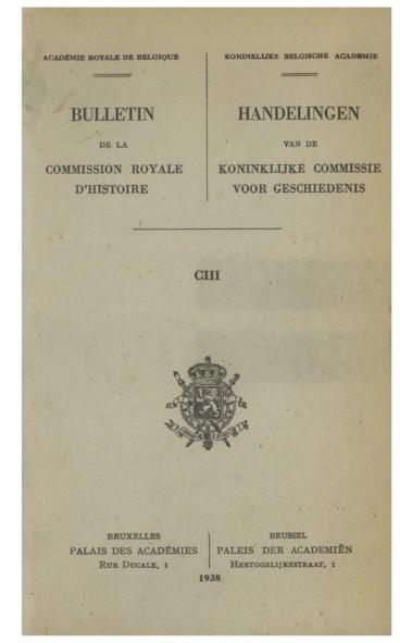 Actes intéressant la ville de Bruxelles 1154-2 décembre 1302