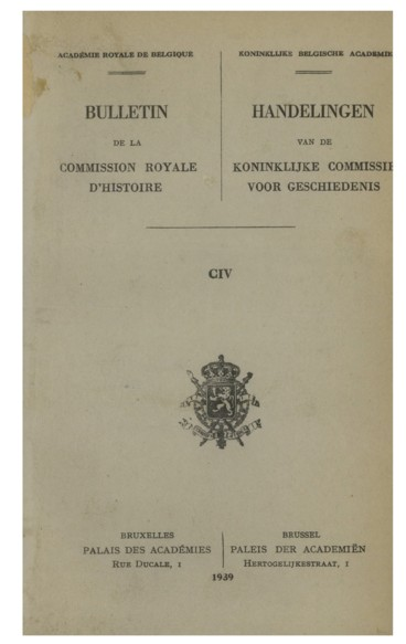 Table des séances    Bulletin de la Commission royale d'histoire. Académie royale de Belgique