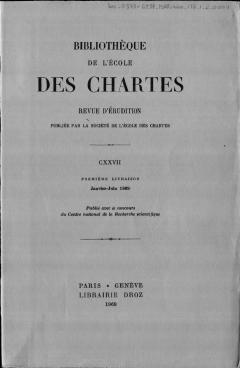 Nouvelles Acquisitions Latines Et Francaises Du Departement Des Manuscrits De La Bibliotheque Nationale Pendant Les Annees 1965 1968