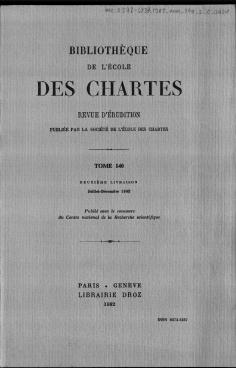 Adalberon De Laon Poème Au Roi Robert Introduction