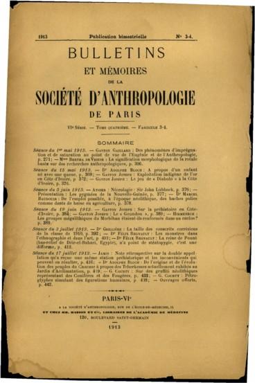 Séance du 15 mai 1913. Dr Adolphe Bloch : A propos dun enfant né avec une queue