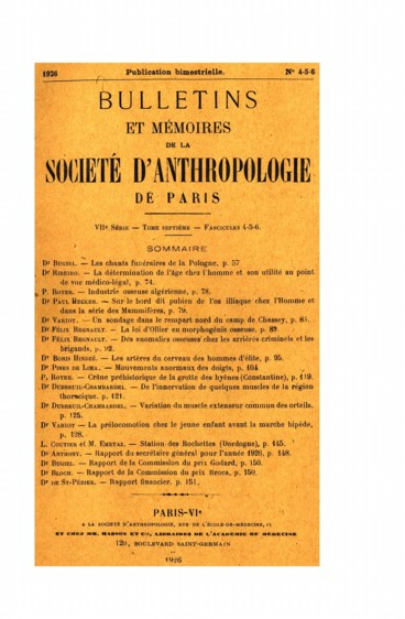 Rapport de la Commission du prix Broca