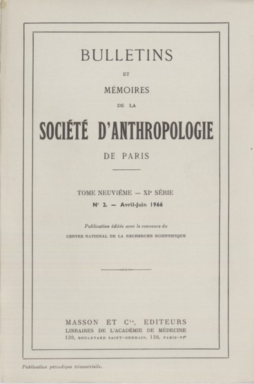 Étude anthropométrographique comparée sur des échantillons dathlètes français et italiens.