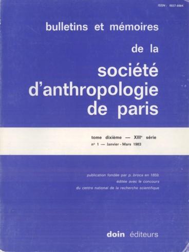 Pèlerin Cl.. Le crâne humain en orientation vestibulaire. Etude de neuf populations récentes. Thèse de Doctorat dEtat es Sciences, Paris, 1983