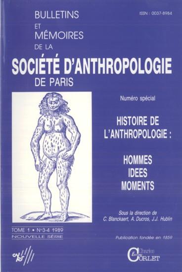 L Anthropologie En France Le Mot Et L Histoire Xvie Xixe Siecles