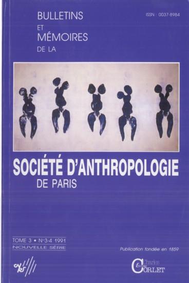 Errata Bull, et Mém. de la Société dAnthropologie de Paris, n.s., t. 3,1991, fasc. 1-2