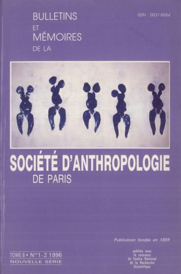 Éditorial    Bulletins et Mémoires de la Société d'anthropologie de Paris