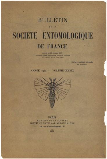Liste des membres de la Société entomologique de France - Persée
