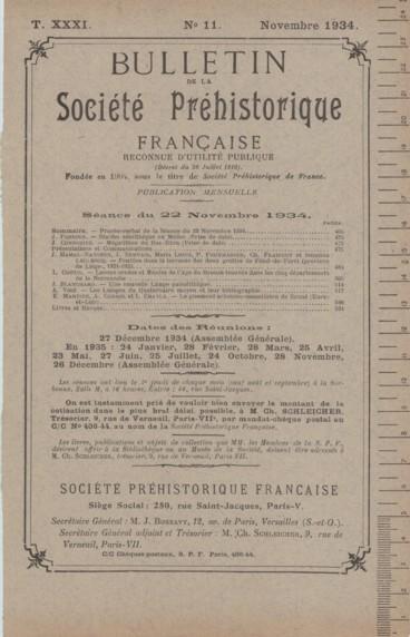 Livres et Revues    Bulletin de la Société préhistorique de France