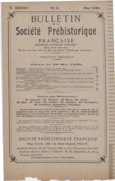 Le Cap Barré et la grotte de Montjaux Hérault Fouilles du Dr Brunel
