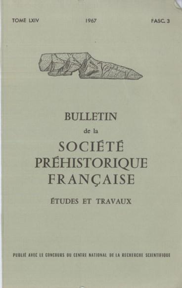 Bibliographie    Bulletin de la Société préhistorique française. Études et travaux