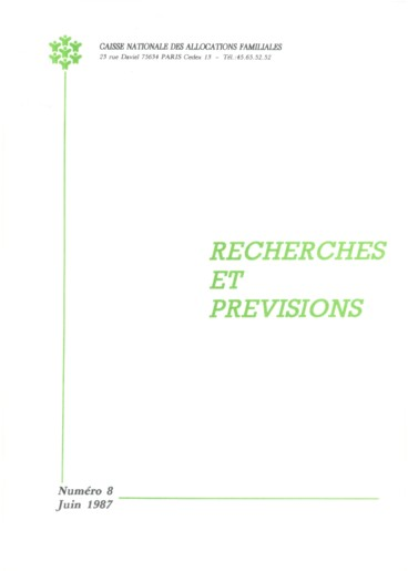 Enquete Sur Les Situations Familiales Note De Synthese Au 01 02