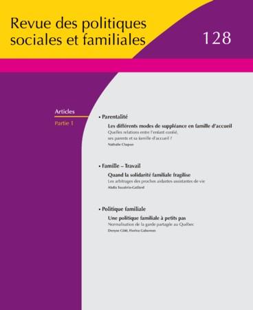 Une Politique Familiale à Petits Pas Normalisation De La