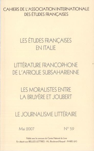 Les supports de la critique littéraire en Suisse romande : grandes revues, «variétés» et suppléments littéraires. 1830-1960