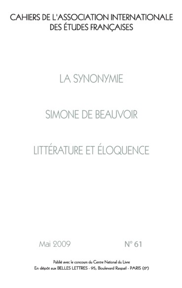 Les Dictionnaires De Synonymes Xvie Xxie Siecle Persee