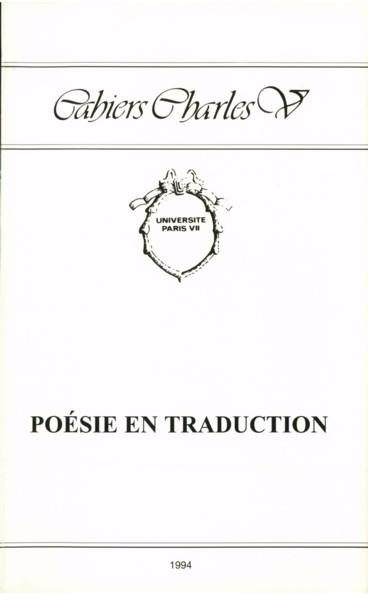 Traductologie Et Poésie Emily Dickinson Entre La Dérive