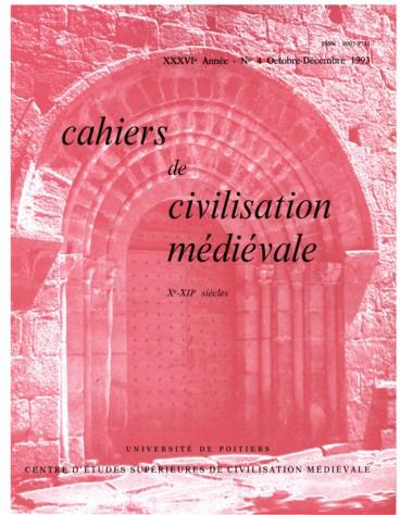 Cahiers de civilisation médiévale (revue) | Centre d'études supérieures de civilisation médiévale (Poitiers)