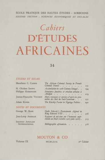 The African Colonial Society in French Colonial Novels - Persée