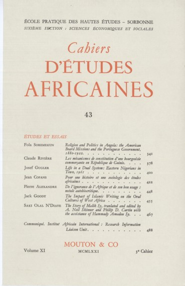 The Impact of Islamic Writing on the Oral Cultures of West Africa