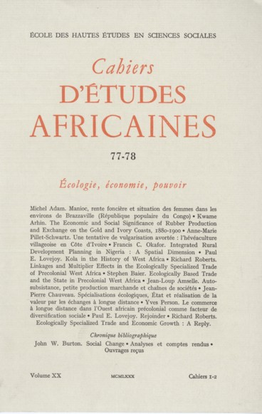 Kola in the History of West Africa  - Persée