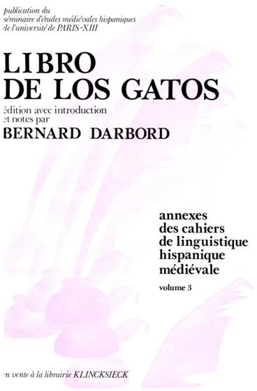 Libro De Los Gatos édition Avec Introduction Et Notes Par