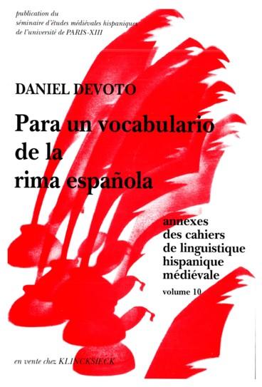 Para Un Vocabulario De La Rima Española Persée